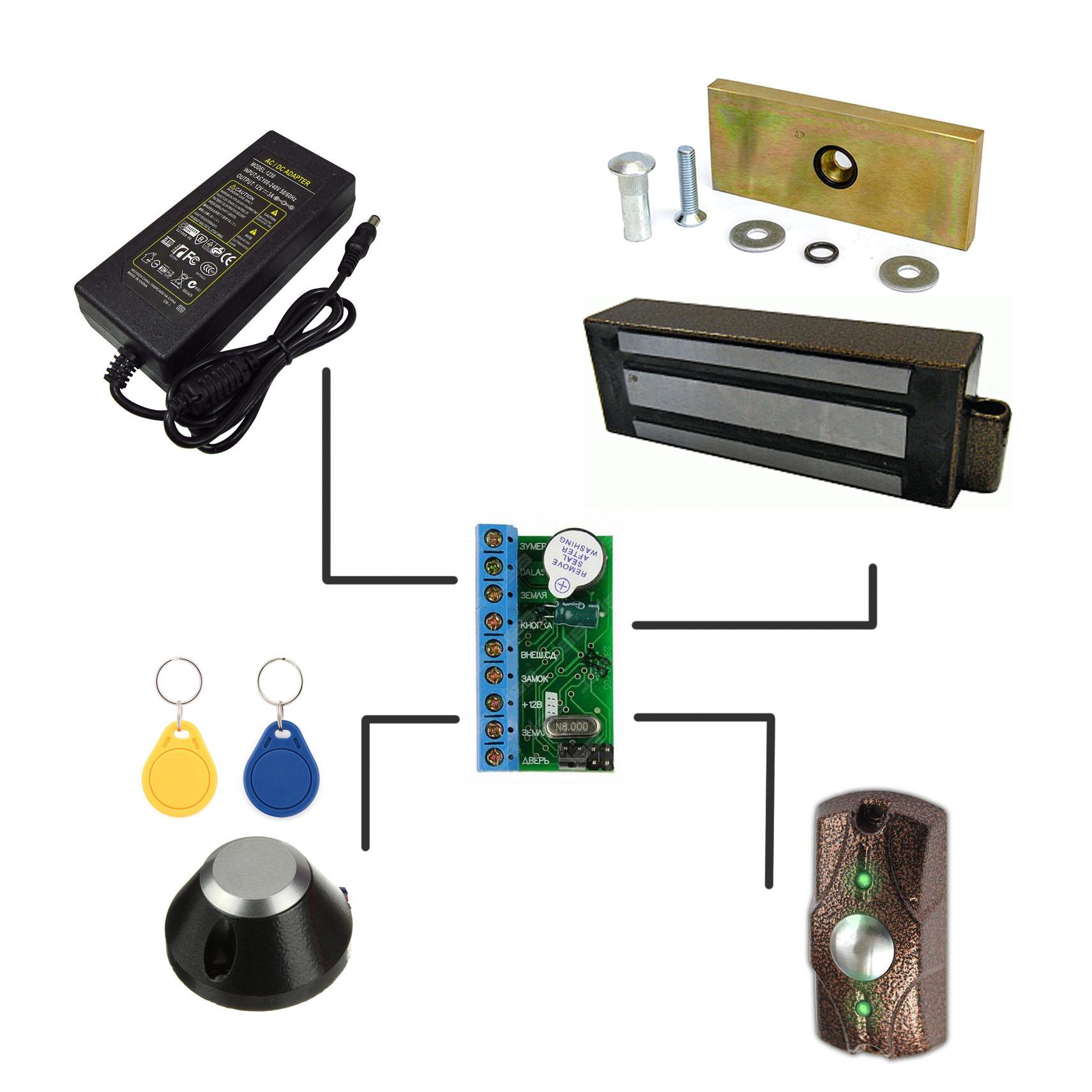 Установка электромагнитного замка системы СКУД
